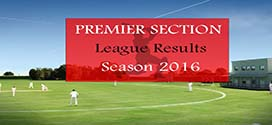 Premier Section League Results – Season 2016