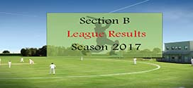 Section B League Results – Season 2017