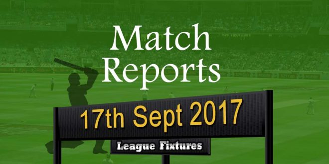 Match Report – 17th September 2017