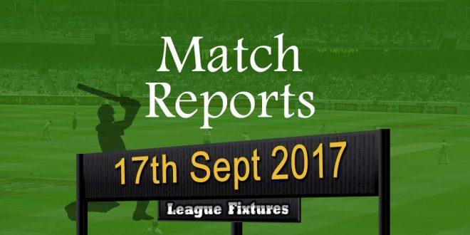 Match Report – 17th September 2017