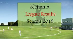 Section A League Results – Season 2018