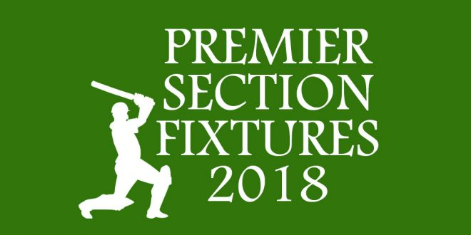 League Fixtures – Season 2018 Premier Section