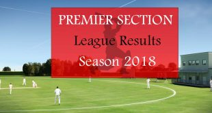 Premier Section League Results – Season 2018