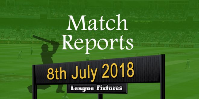 Match Report – 8th July 2018