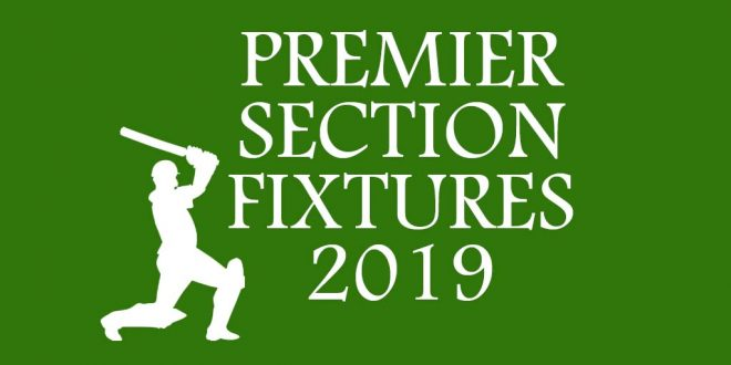 League Fixtures – Season 2019 Premier Section