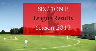 Section B League Results – Season 2019