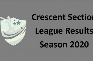 Crescent Section League Results season 2020