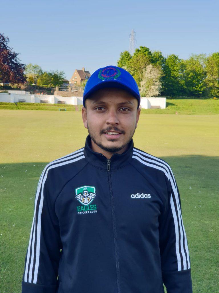 Kurtik Patel AK Eagles 45 runs and also 5 for 13 runs