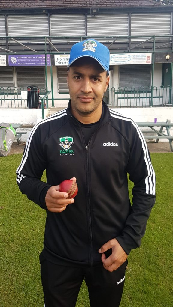 Hasnain Mughal AK Eagles 5 for 13 runs